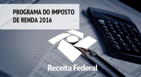 Programa do Imposto de Renda 2016 será liberado nesta quinta-feira