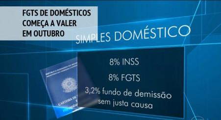 FGTS de domésticos começa a valer em outubro