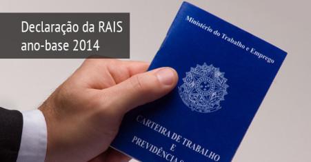 Entrega da declaração da RAIS, ano-base 2014