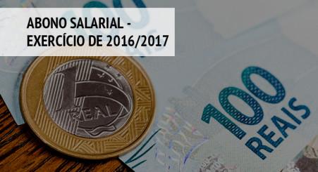 Abono Salarial - Exercício de 2016/2017