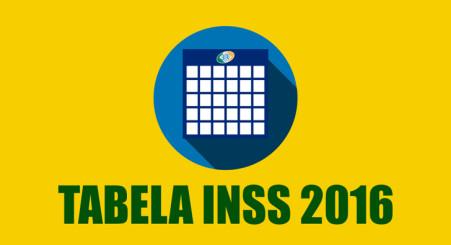 Tabela INSS 2016 Atualizada
